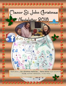 Manor St John Newsletter Christmas 2018